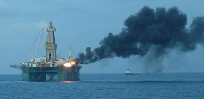 Falla en plataforma petrolera británica en el Mar
